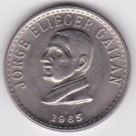 Colombia 50 Centavos 1965. Jorge Eliecer Gaitan. Copper-Nickel. KM# 225 - Colombia