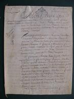 1777 Manuscrit Sur Vélin Généralité Alençon Normandie Bélou Bellou Sur Huisne  Belle Calligraphie 8 Pages - Manuscrits
