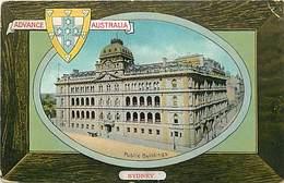 Pays Div-ref W319- Australie - Australia - Advance Australia-sydney-public Buildings/ Etat :petit Pli Coin Haut Droit - - Australia
