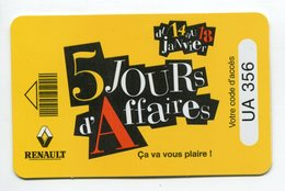 Telecarte °_ Voiture-publicité-plastifié- Jeu Renault -5 Jours Twingo- R/V 356 - Voitures