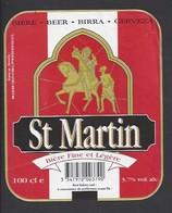 Etiquette De Bière - Saint Martin  -  Brasserie Grain D'Orge  à  Ronchin  (59) - Beer