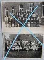 Photox2 ANZEGEM Wortegem Waregem 1939 School - Lieux
