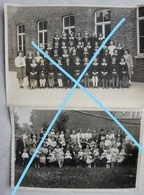 Photox2 ANZEGEM Wortegem Waregem 1939 School - Orte