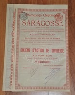 Tramways Electrique De Saragosse - Bruxelles 1908 - Chemin De Fer & Tramway