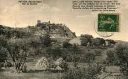 04 - PEYRUIS - Vue Du Sud Est   * Etiquette L. Cognet Au Verso - France