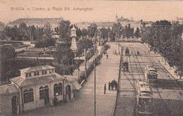 BRAILA , Romania , 1900-10s ; Centru Si Piata Sft. Arhangheli - Rumania
