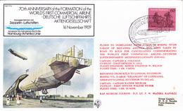 70th Anniversary Of The Formation Of The World's First Commercial Airline - Deutsche Luftschiffahrts Aktiengesellschaft - Zeppelins