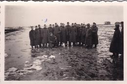 PHOTO ORIGINALE 39 / 45 WW2 WEHRMACHT FRANCE CALAIS SOLDATS ALLEMANDS SUR LA COTE - Guerre, Militaire