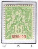 Ex Colonie Française  *  La Réunion  *  Poste  46 N* - Réunion (1852-1975)