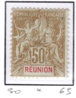 Ex Colonie Française  *  La Réunion  *  Poste  50  N* - Réunion (1852-1975)