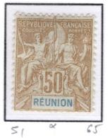 Ex Colonie Française  *  La Réunion  *  Poste  51  N* - Réunion (1852-1975)