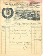 LOKEREN     Van Duyse Frères  BERGENDRIES    Fabrique Belge De Bouchons & De Quercine 1908 - Alimentaire