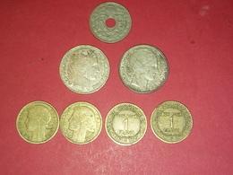 LOT DE 7 MONNAIES 10 FRANCS TURIN ARGENT  ET AUTRES Non Nettoyé - K. 10 Franchi