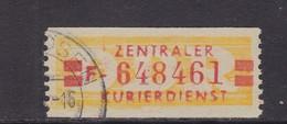 ZKD Wertstreifen Dienstmarken-B Michel Nr. 19 I F - Servizio