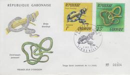 Enveloppe  FDC  1er  Jour   GABON   Serpents   1972 - Serpents
