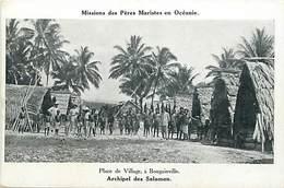Pays Div-ref W305-oceanie -mission - Missions Des Peres Maristes -place Du Village A Bougainville -archipel Salomon - Solomon Islands