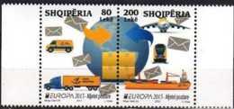 2013 Albania - Europa CEPT Postal Transport - 2v Set Setenant MNH** MI 3427-3428 - Europa-CEPT