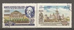 RUSSIE -  Yv N°  1734,1735  (o)  Université Moscou Cote 1,25 Euro  TBE - 1923-1991 UdSSR