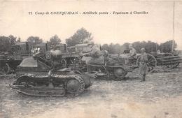 ¤¤  -   Camp De COETQUIDAN  -   Artillerie Portée  -  Tracteur à Chenille   -  Militaires      -  ¤¤ - Guer Coetquidan