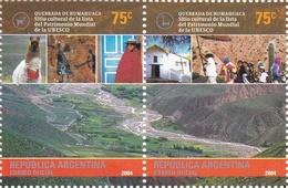 QUEBRADA DE HUMAHUACA. ARGENTINA 2004 GOTTIG JALIL 3348 - 3349 MNH SERIE COMPLETA SE-TENANT - LILHU - Vacances & Tourisme