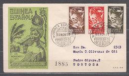 Guinea Sobres 1� D�a 1951 Edifil 306/8 - Guinée Espagnole