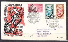 Guinea Sobres 1� D�a 1955 Edifil 355/7 - Guinée Espagnole