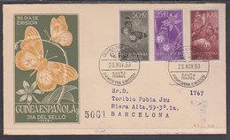 Guinea Sobres 1� D�a 1958 Edifil 388/90 - Guinée Espagnole