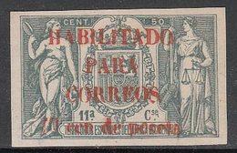 Guinea Sueltos 1909 Edifil 58AB * Mh  Fiscales Con Cifra De Control - Spanish Guinea