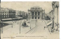 MONTPELLIER   (   HÉRAULT  )    PLACE LA COMÉDIE ET GRAND THÉÂTRE - Montpellier