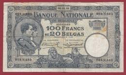 Belgique 100 Francs /20 Belgas Du 06/09/1928 Dans L 'état (13) - [ 2] 1831-... : Belgian Kingdom