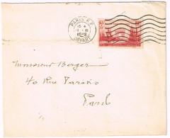 403 20e Anniversaire De La Victoire Obl Méca Paris RP Du 11/11/1938 - Postmark Collection (Covers)