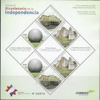 COSTA RICA, 2019, MNH, TOWARDS BICENTENARY OF INDEPENDENCE, NATIONAL THEATRE, PRECOLOMBIAN RELICS, SHEETLET OF 2 SETS - Celebrations