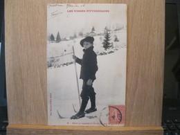 Elève Se Rendant à L'école En Skis - Unclassified
