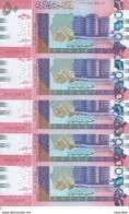 SUDAN 50 POUNDS 2018 P-NEW GLOSSY DARK  COLOR TYPE LOT X5 UNC NOTES */* - Sudan