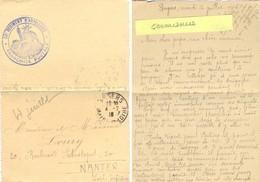 GUERRE 14-18 Envoi De R. LOURY CANONNIER Au 33e REGIMENT D'ARTILLERIE - ANGERS MAINE-ET-LOIRE Le Mardi 4 Juillet 1916 - Poststempel (Briefe)