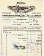 BUYSINGHEN  BRUXELLES  Société Belge Pour La Fabrication Des Câbles Et Fils électriques - Électricité & Gaz
