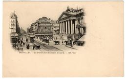 BRUXELLES - La Bourse Et Le Boulevard Anspach - Dos Non Divisé - Avenues, Boulevards
