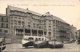 62 - LE PORTEL - L'HÔTEL DES BAINS ET BELLE-VUE SUR LA PLAGE - Le Portel