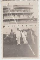 PHOTO DAKAR 1938 PAQUEBOT / VIEILLE VOITURE / PASSAGERS / GARDE MILITAIRE - Sénégal