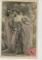 FEMMES - FRAU - LADY - SPECTACLE - ARTISTES - THÉÂTRE - Jolie Carte Fantaisie Portrait Artiste BARKIS - Donne