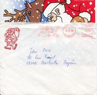 PERE NOËL. LIBOURNE. 1988. Enveloppe + Carte - Marcophilie (Lettres)