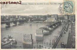 ASNIERES TRAVAUX DE DEMOLITION DU VIEUX PONT  92 - Asnieres Sur Seine