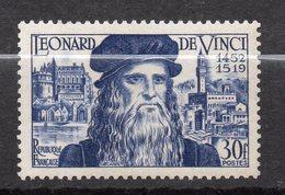 1952  --tp NEUF --tp  5ème Centenairede La Naissance De Léonard De Vinc   N° 929 .......cote  10 €............à Saisir - Frankreich