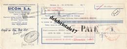 LETTRE DE CHANGE DU 22 NOVEMBRE 1957 - SICOM S.A. FONTVIEILLE - MONACO - TIMBRE FISCAL DE 7 FRANCS - Wissels