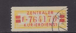 ZKD Wertstreifen Dienstmarken-B Michel Nr. 19 II F (PF1 T Verstümmelt) - Servizio