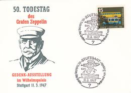Graf Zeppelin, 50. Todestag, Stuttgart 11.3.1967 - Zeppelins