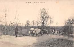 58 - Imphy - Beau Cliché Des Attelages Rustique De Boeufs - Sonstige Gemeinden