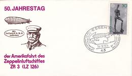 Graf Zeppelin, 50. Jahrestag Der Amerikafahrt Des Zeppelinluftschiffes ZR 3, Essen 14.9.1974 - Zeppelins