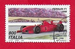 ITALIA REPUBBLICA USATO - 1998 - Esposizione Mondiale Di Filatelia Milano - Giornata Della Ferrari - £ 800 - S. 2381 - 6. 1946-.. Republic