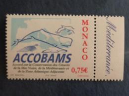 MONACO 2002 Y&T N° 2342 ** - ACCOBAMS - Nuovi